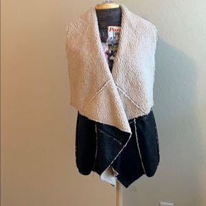 Karlie Faux Fur Leather Vest